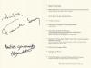 Автограф Франка Савоя на меню ресторана GAY SAVOY Лас Вегас (США)