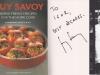 Автограф и пожелание на кулинарной  книге от шеф-повара Ги Савоя