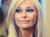 Актириса кино и театра Елена Корикова (Россия). Пожелание и автограф на фотографии