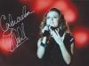Певица Юлия Савичева (Россия), автограф на фотографии