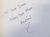 Автограф и пожелание от австралийского шеф-повара Адриана Ричардсона