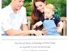 Семейная фотография Их Королевских Высочеств Герцога и Герцогини Кембриджских и Принца Георгия