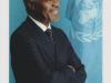 Автограф Лауреата Нобелевской Премии Мира Кофи Аннана, экс. Генсекретарь ООН
