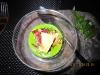 Зеленый мусс с лисичками, карамелизированной петрушкой и иберийским хамоном