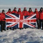 Принц Гарри и участники экспедиции на Южный Полюс