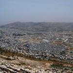 Вид на Шхем с горы Гризим
