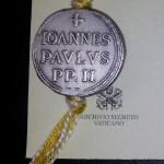 Печать (булла) Папы Иоанна Павла II. Из личной коллекции