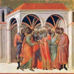 Дуччо или Чимабуэ. Предательство Иуды (XIV в.).