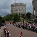 Королевский штандарт на Круглой башне Виндзорского замка
