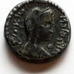 Набатейское царство. Серебрянная драхма (реверс). Царица Хульду. 9-16 гг. н.э.. Из личной коллекции