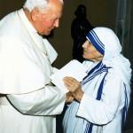Иоанн Павел II и Мать Тереза