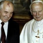 Иоанн Павел II и М.С.  Горбачев