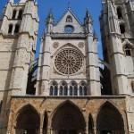 Facade and Main Entrance of León's Cathedral