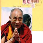 Автограф Лауреата Нобелевской Премии Мира Далай-Ламы XIV, любезно предоставленный Его Святейшеством.Из личной коллекции