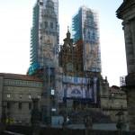Main facade of Santiago de Compostela Cathedral