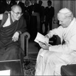 Далай-лама XIV и  Иоанн Павел II