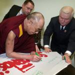 Далай-лама XIV на встрече с Лехом Валенсой