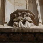 Details of Cathedral's Exterior Decor. Angels Playing Lutes