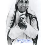 Автограф блаженной Матери Терезы. Из личной коллекции