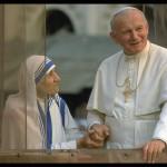 Мать Тереза и Иоанн Павел II