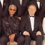 Нельсон Мандела во время встречи с Королевой Елизаветой II