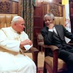 Нельсон Мандела и Иоанн Павел II