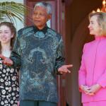 Нельсон Мандела и Халлари Клинтон