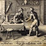 Исав и Иаков. Продажа первородства. Питер Схют. Офорт. 1659 г.