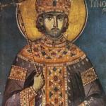 Constantine the Great. Fresco. Greece