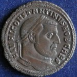 Constantine I the Great, 307-337 CE, Roman coin Follis (obverse). From private collection