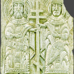 Equal-to-the-Apostles King Constantine and Queen Helena. Russia, 12th century. Stone Carving