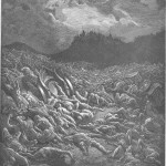 Destruction of Ammonite and Moabite Armies. Engraving by Gustave Doré