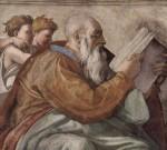 Пророк Захария. Микеланджело Буанарроти, фреска