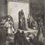 Давид, оплакивающий Авессалома. Гравюра Гюстава Доре