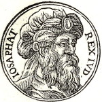 King Jehoshaphat. Engraving from the collection of biographies Promptuarii Iconum Insigniorum (1553)