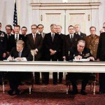Signing SALT-2 treaty between U.S.A. and U.S.S.R.