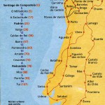 Схема маршрутов португальского Камино