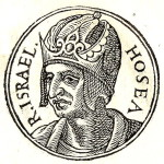 King Hosea - the Last King of the Kingdom of Israel. Portrait from the Collection of Biographies Promptuarii Iconum Insigniorum
