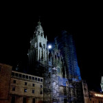 Super Moon over the Cathedral in Santiago de Compostela