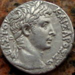 Emperor Augustus. Tetradrachm. 6 AD. Obverse. Silver. From my private collection.