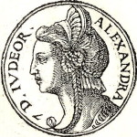 Queen Salome Alexandra. Engraving from  the collection of biographies Promptuarii Iconum Insigniorum (1553)