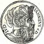 King Alexander Jannaeus. Engraving from  the collection of biographies Promptuarii Iconum Insigniorum (1553)