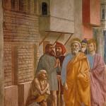 Мазаччо. Святой Петр исцеляет больного своей тенью