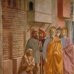 Massacio. Saint Peter healing the sick with his shadow.